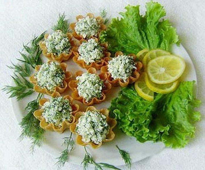 Начинка для тарталеток из салатов с